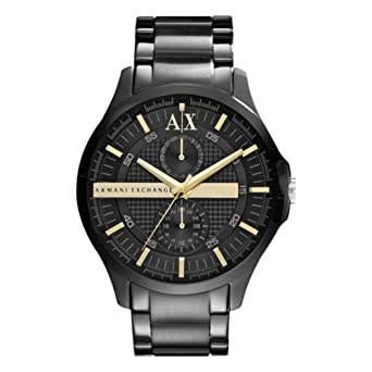 b9c0fb01a38 Amazon.com  Armani Exchange AX2121 Mens Fashion Black Watch  Watches