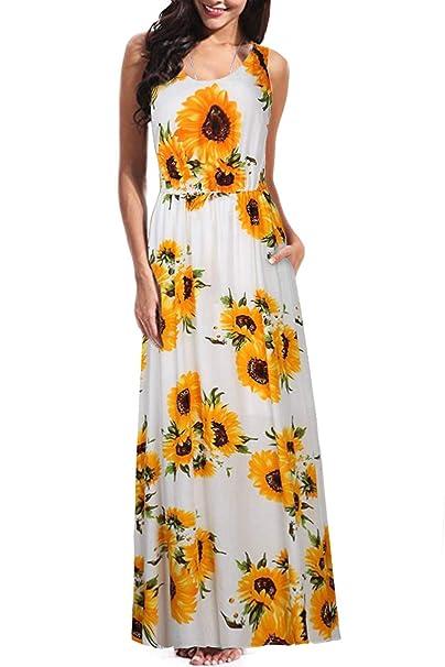 Amazon.com: BBX Lephsnt Maxi vestidos sin mangas para mujer ...