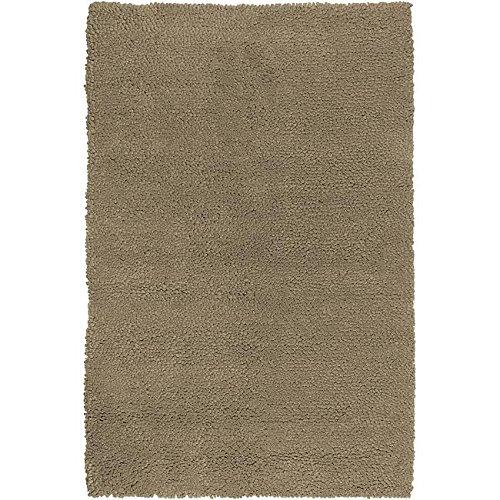 Surya Aros AROS-9 Shag Hand Woven 100% New Zealand Felted Wool Praline 5' x 8' Area Rug - Aros Shag Rug