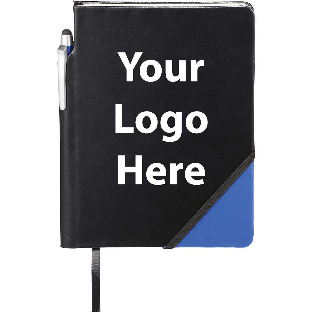 Ace Notebook with Pen Stylus - 150 Quantity - $3.25 Each - PROMOTIONAL PRODUCT / BULK / BRANDED with YOUR LOGO / CUSTOMIZED