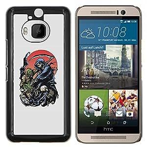 EJOOY---Cubierta de la caja de protección para la piel dura ** HTC One M9Plus M9+ M9 Plus ** --Grim Reaper Death Scythe Maiden