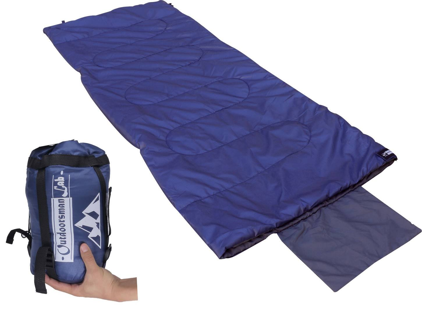 OutdoorsmanLab Sleeping Bag | 50-70F Warm & Cool Weather | Ultra Lightweight & Compact for Camping, Backpacking, Outdoor Events | for Adults & Kids | Includes Compression Sack 3