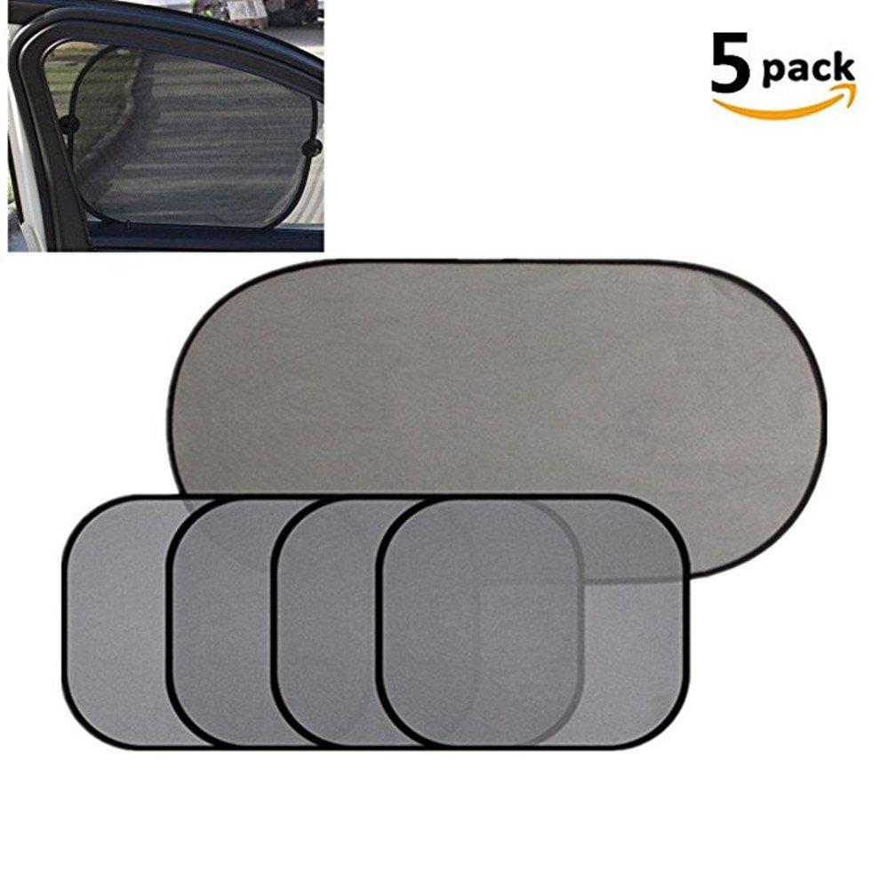 YIYI Car Sun Screen, 5Pcs Sun Protection Car Sun Shade Car Sunshade UV Protect Car Window Film For Baby Child