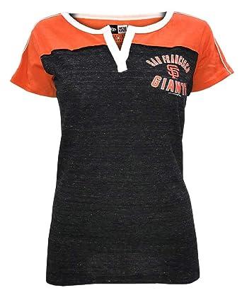 22f28fe7 New Era Womens MLB San Francisco Giants V-Neck Jersey T-Shirt Tee ...