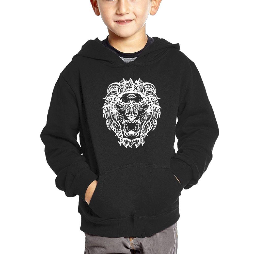 JasonMade Lion Tattoo Kids Fashion Popular Hooded Hoodies With Pocket