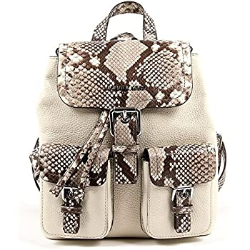 a75495e8126b5c Amazon.com | Michael Kors Pebble Susie Leather Large Flap Backpack ...