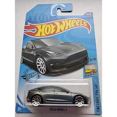 Hot Wheels 2020 Factory Fresh Tesla Model 3, Gray 112/250: Toys & Games