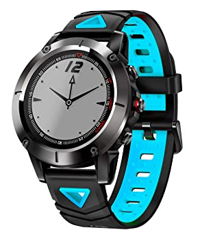 G01 GPS Reloj Inteligente Hombres IP68 A Prueba De Agua Presión Bluetooth Reloj Bluetooth Deportes Brújula Smartwatch para Android iOS,Blackblue: Amazon.es: ...