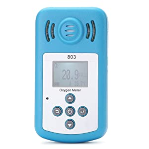 KKmoon Oxygen Meter Portable Oxygen(O2) Concentration Detector with LCD Display and Sound-light Alarm