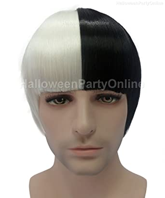 Amazon Halloween Party Online SIA Wig Black White Adult Kids HM 062 Clothing