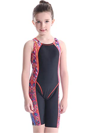 VERTAST Girls Athletic Competitive One-Piece Swimsuits Racerback Legsuit Swimwear for Age 4-15