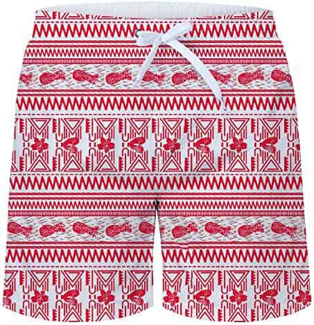 b32d62349e AIDEAONE Men Swim Trunks 3D Printed Quick Dry Waterproof Bathing Suits  Beach Board Shorts with Pockets
