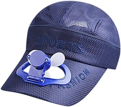 TWIFER Sombrero de béisbol Fan sombrilla del USB de la batería de Litio Hombres y Mujeres sombrilla del par del Viento Camping Senderismo Gorra de Pico con Ventilador Solar Powered Hat: Amazon.es: