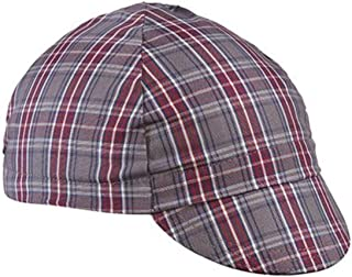 product image for Walz Caps Grey/Maroon 4-Panel Plaid Cycling Cap