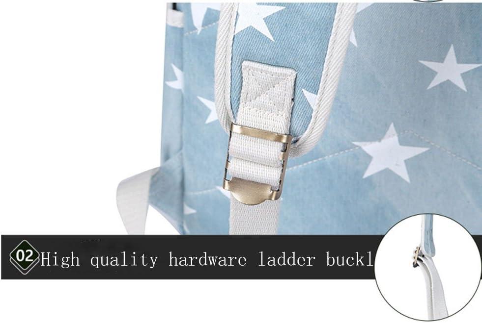 XJBHD School Bag High School Student Rucksack Printed Junior high School Denim USB Backpack Color : A2, Size : XS