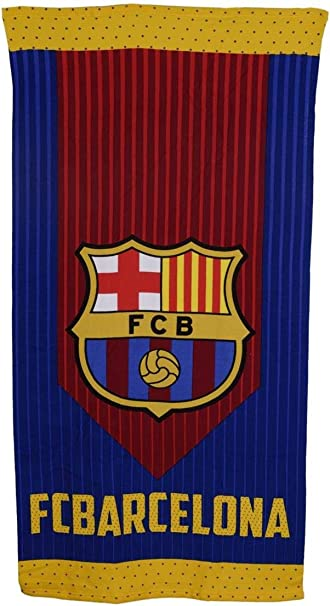 to Bedding 426 FC Barcelona FCB Football Bath Towel 70 x 140cm Beach Towel Pass