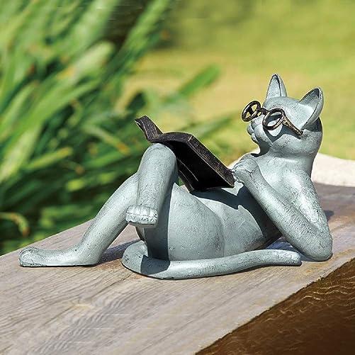 SPI Home 53028 Literary Cat Garden Sculpture