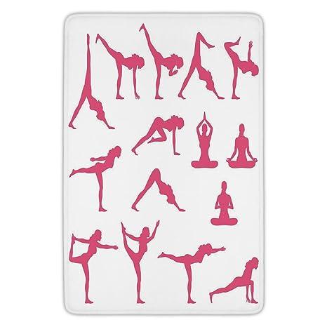 Amazon.com: Bathroom Bath Rug Kitchen Floor Mat Carpet, Yoga ...