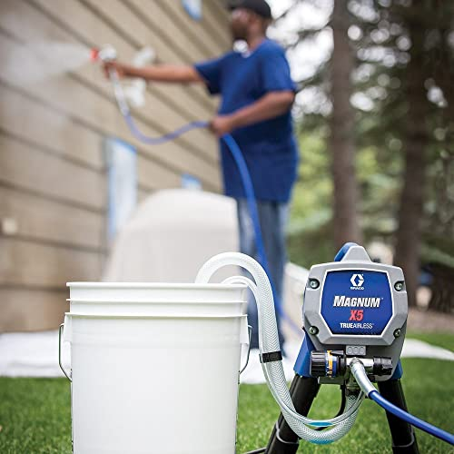 Graco Magnum 262800 X5 is one of the best electric paint sprayer that is ideal for painting all interior projects, decks, siding, fences and small houses