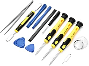 Cellphone Repair Tool Kit for iPhone 4, 5, 5S, 5C, 6, 6S, 7, 8, 8 Plus, iPad, iPod, Samsung Galaxy, Note/Precision Screwdriver Opening Pry Tools Fix iPhone Screen, Battery by NIDAYE