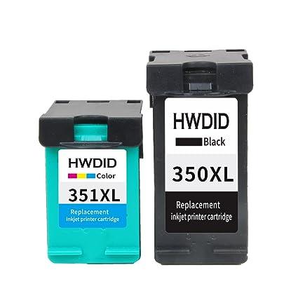 hwdid Remanufacturados Cartuchos de Impresora para HP 350 XL & HP ...