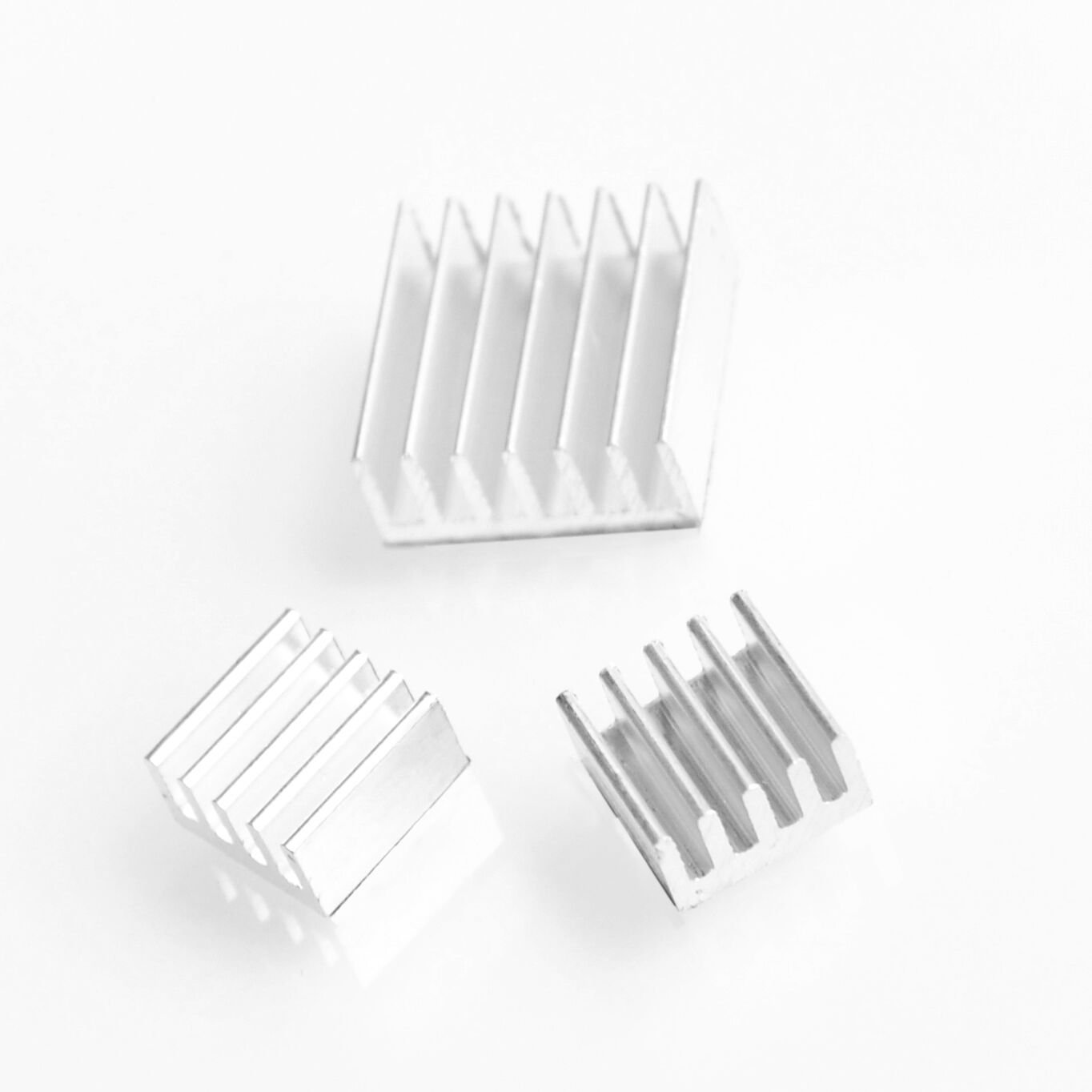3pcs Adhesive Raspberry Pi 3 Heatsink Cooler Pure Aluminum Heat Sink Set Kit Radiator for Cooling Raspberry Pi 2 B