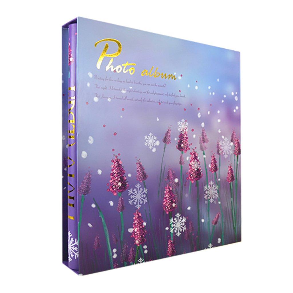 PHF Álbum intersticial de Fotos Retro intersticial Álbum  Álbum conmemorativo Puede almacenar 500 Fotos 6X4 (4R) 32.5X33.5cm (Color : Verde) 9abcfa