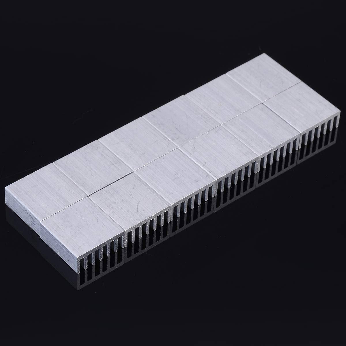 12pcs Computer Cooler Radiator Aluminum Heatsink Heat sink for LED Electronic Chip Heat dissipation Cooling Pads Rolldaso