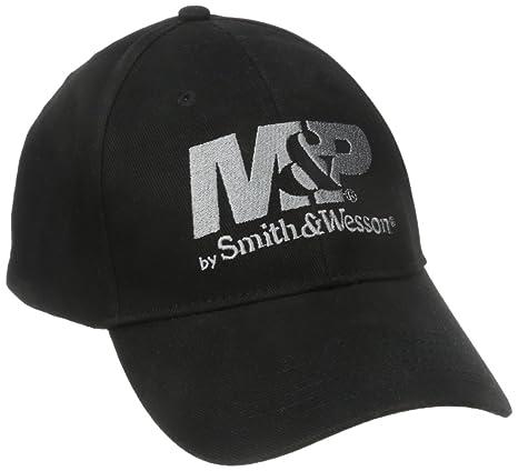 bb85422b8c5ae Smith   Wesson M P by Men s Logo Cap in Black at Amazon Men s Clothing  store  Baseball Caps