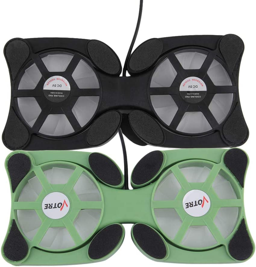 USB Double Fans Port Mini Portable Octopus Notebook Fan Cooler Cooling Pad for 14 inch Laptop with LED Light