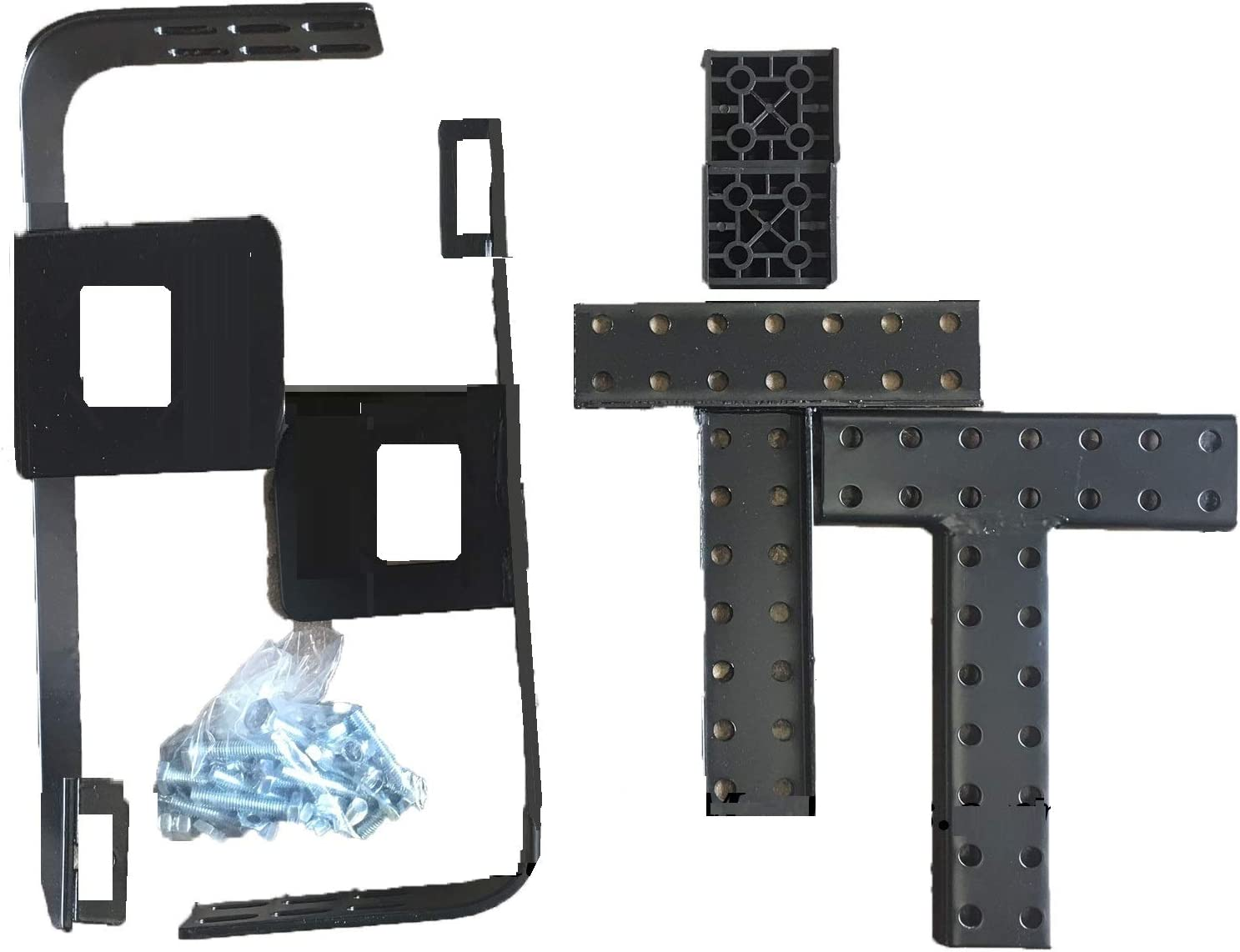 Bed Frame Footboard Extension Brackets Attachment Kit Set Of 2 Twin, Full, Q...