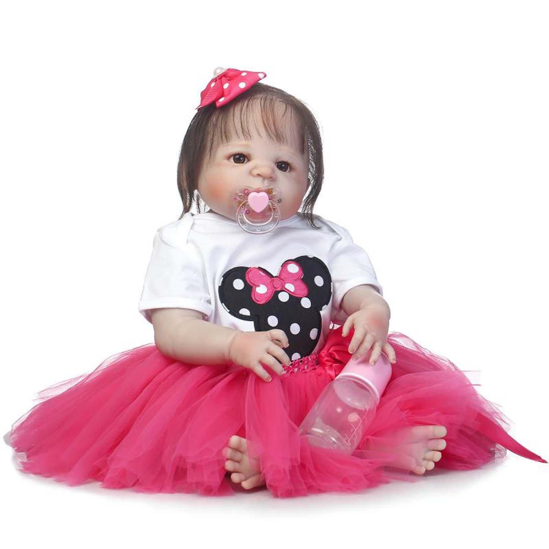 Terabithia 22 Inch Rare Alive Rebornベビー人形、かわいい女の子Doll Dressed in Prettyレッドプリンセスドレス   B07BNFJP6P