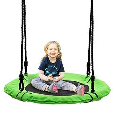 wonline 24'' Flying Saucer Tree Swing, 330lb Weight Capacity, Indoor/Outdoor Round Mat Swing for Kids: Toys & Games