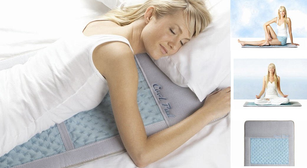 Cool Pad Mattress Topper Sleep Body Cooling Mat Active Cool Crystals
