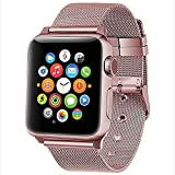 Apple Watch Band,GEOTEL Apple Watch Accessories iWatch Band Strap Milanese Loop Stainless Steel Band with Classic Buckle for Apple Watch Series 2 Series 1,Nike+,Hermes,Sport&Edition(38MM-PINKGOLD)