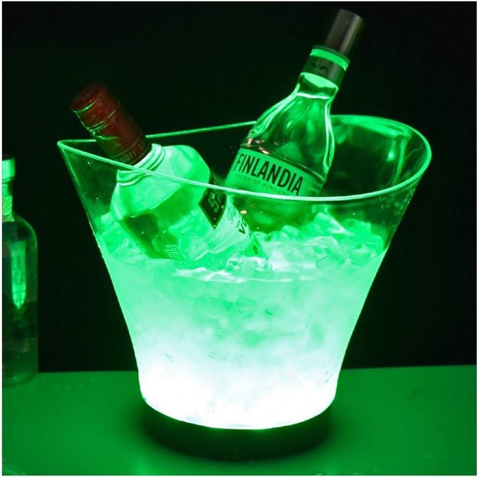 Cubos de Hielo Champaña Vino Cerveza Barril LED Ice Bucket ...