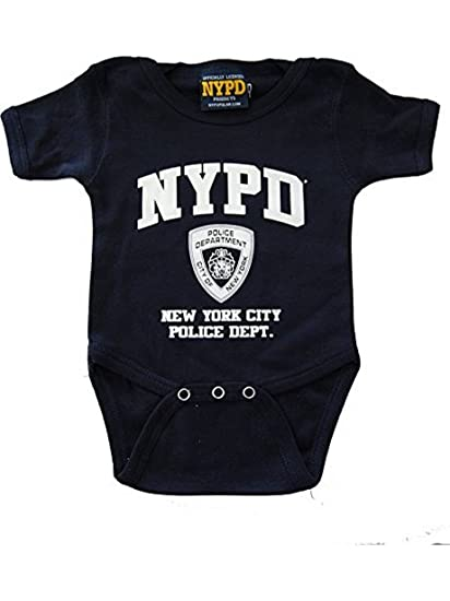 89d6a9380 Amazon.com: NYPD Infant Onesie Navy with White Chest Print: Sports ...