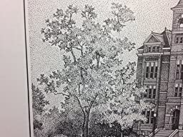 Auburn Samford Hall pen and ink 11\