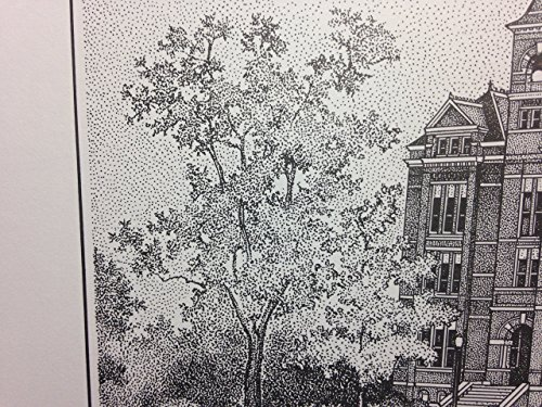 Auburn Samford Hall pen and ink 11''x14'' print by Campus Scenes (Image #4)