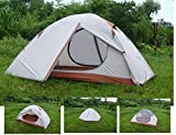 Backpacking Tent - Luxe Tempo 2 Person Ultralight Tents for Camping 3.8LB with Footprint High-end Silnylon Backpacking Tents Aluminum Poles 2 Doors 2 Vestibules