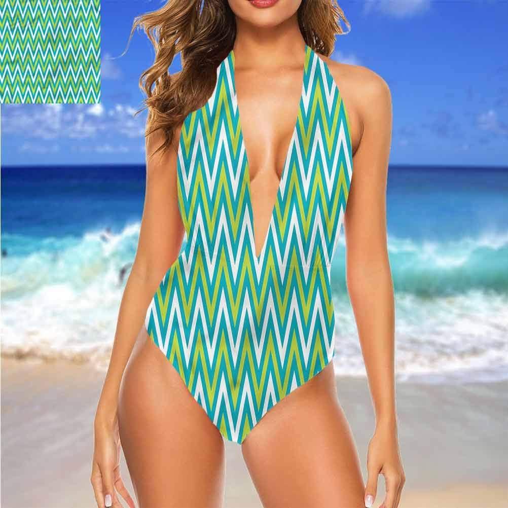 Adorise Maillots de bain géométriques, triangles ovales pour vous sentir confortable/confiant. Multicolore 05