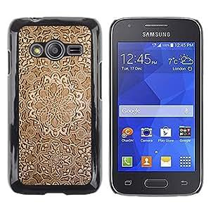 Paccase / Dura PC Caso Funda Carcasa de Protección para - Wallpaper Wood Carving Brown Design Art - Samsung Galaxy Ace 4 G313 SM-G313F