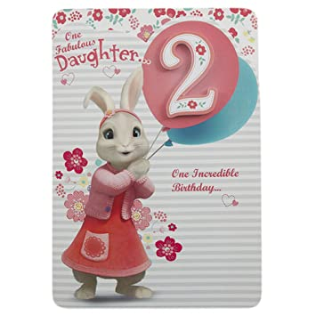 Hallmark Peter Rabbit 2nd Birthday Card For Daughter Happy Adventure