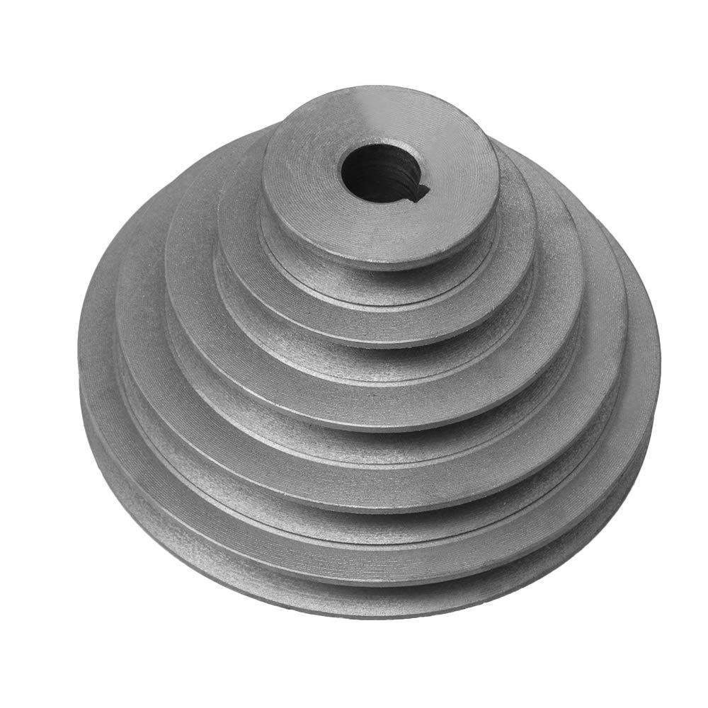 Yibuy 16mm Bore OD 41-130mm 4 Step Pagoda Pulley Timing Belt for A Type V Belt etfshop M7181106238