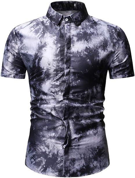 CHENS Camisa/Casual/Unisex/M Hombres Hombres Camisa de Verano Hombres Tallas Grandes Moda Casual Confort Imprimir Manga Corta Top Blusa Ropa: Amazon.es: Deportes y aire libre