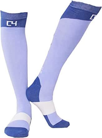 C4 Equestrian High Performance Riding Socks - Horse Riding & Tall Boot Over the Calf Knee High Socks for Women