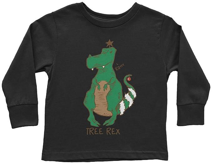 5c8811902 Amazon.com: Threadrock Little Boys' Tree Rex Christmas Dinosaur Toddler L/S  T-Shirt: Clothing