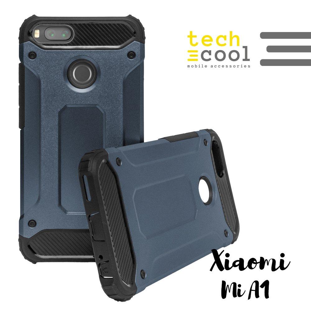 Funda para Xiaomi Mi A1 / Mi 5X TechCool® I Carcasa Funda Diseño Armor Case Color [Rojo] 2 en 1 Gran Resistencia I Fabricada en 2 Piezas 1 TPU + PC Gran Resistencia Ante Golpes I Serie 2 in 1 Armor Case GTCL-001