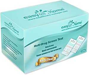 10 Pack Easy@Home 6 Panel Instant Drug Test Kits - Testing Marijuana (THC), Amphetamine(AMP), Benzodiazepines(BZO), Cocaine(COC), Opiates(OPI 2000), Methamphetamine(MET/mAMP)-#EDOAP-264