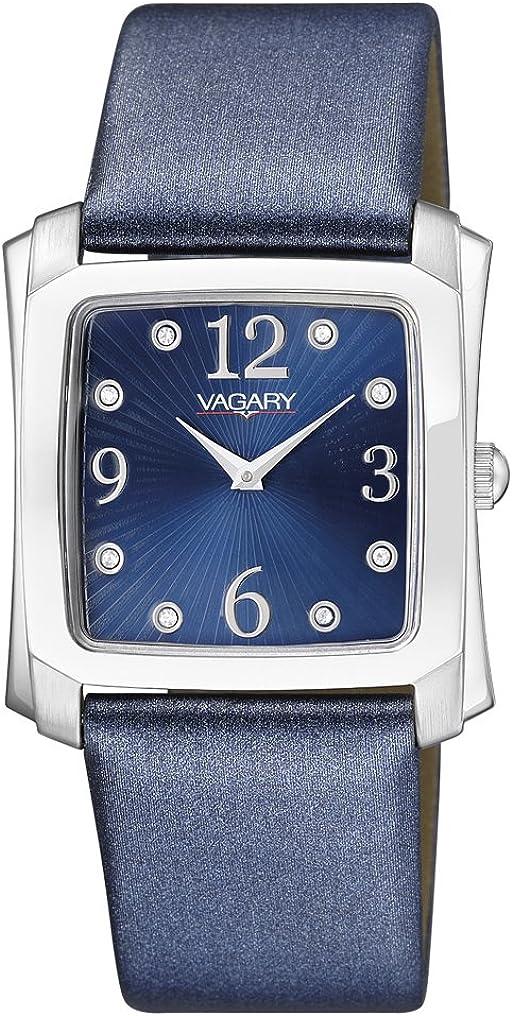 Vagary by Citizen VG0-010-70 - Reloj analógico de Cuarzo para Mujer, Correa de Raso Color Azul